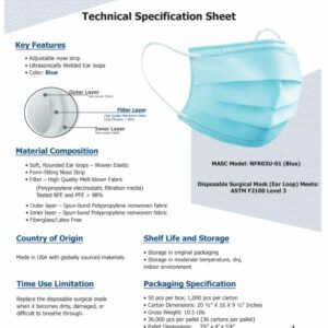 3-Ply Protective Mask - ASTM Lvl 3