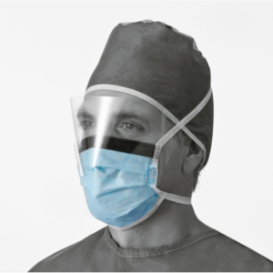 Anti-fog Surgical Masks with Ties and Antiglare Shield